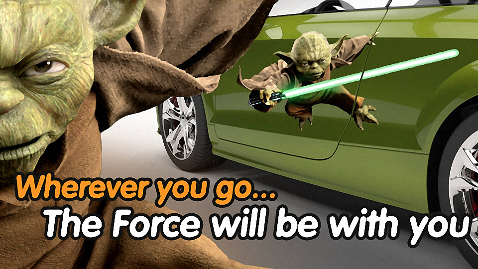 Wrap Your Car in Star Wars Characters