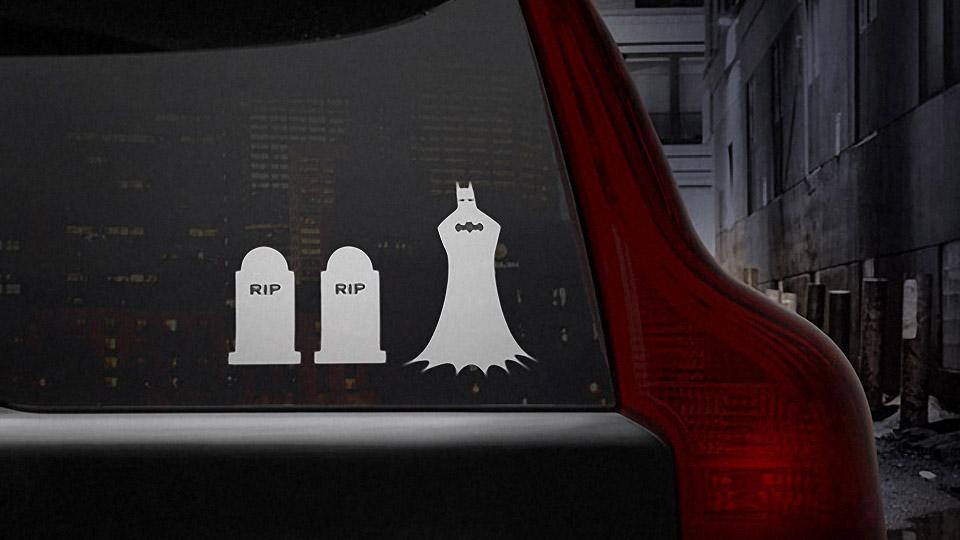 Bruce Wayne's Family Window Stickers