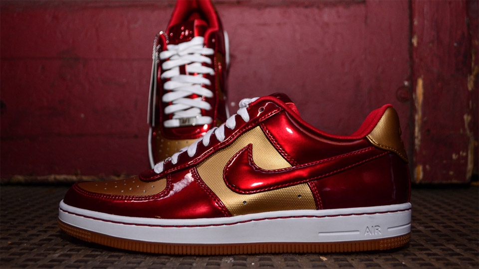 "Nike Air Force 1 Downtown – ""Iron Man"" Sneakers"