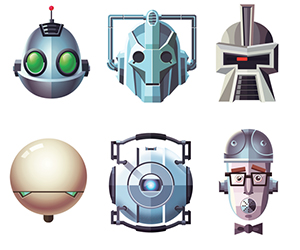 A Graphical Array of Famous Robots