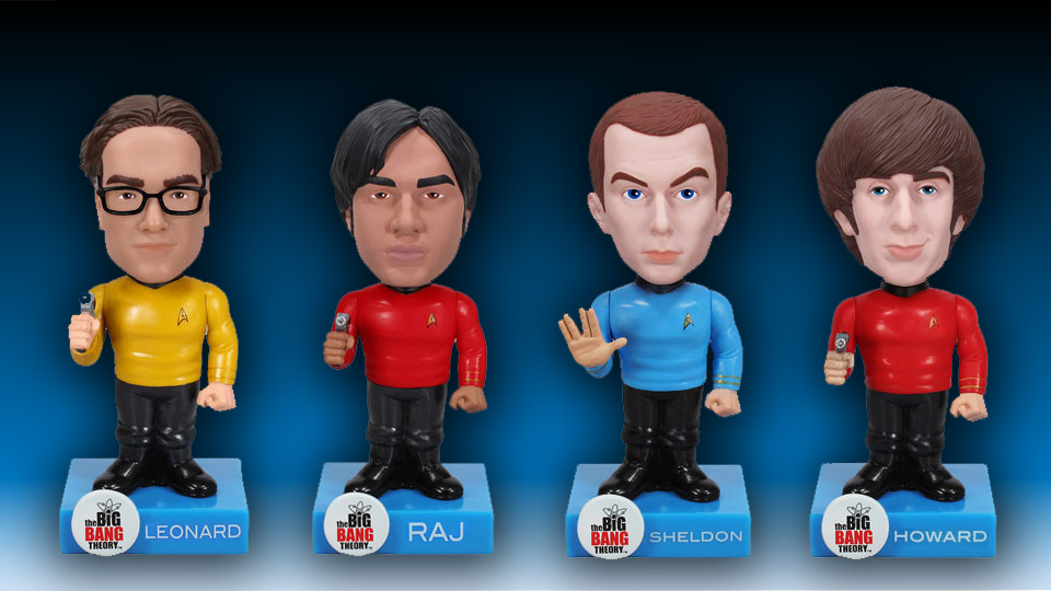 Star Trek Big Bang Theory Bobble Heads