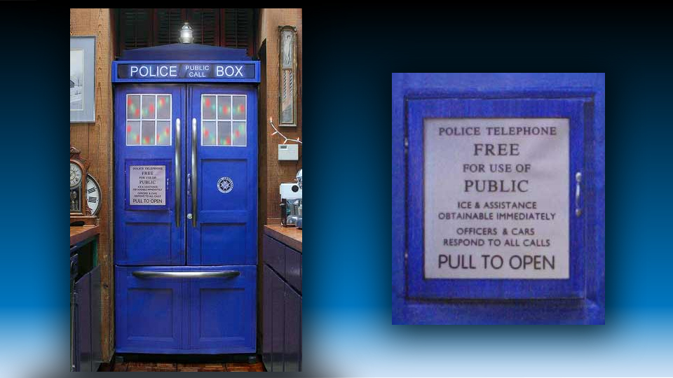 Turn Your Refrigerator Into a TARDIS Police Box