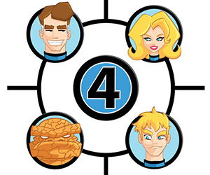 Fantastic Four Character Art