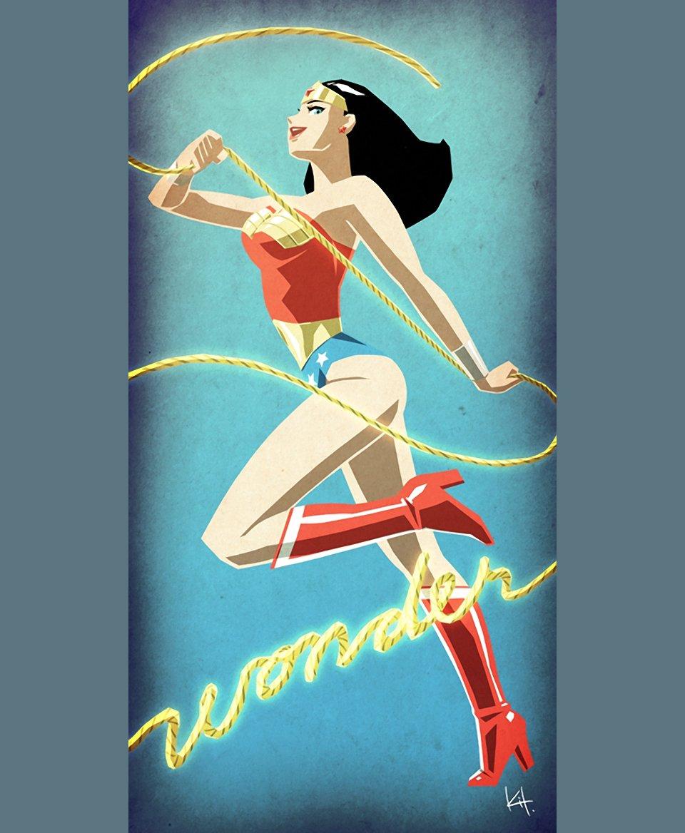 Artistic Renderings of Female Superheroes