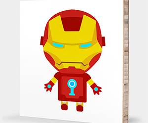Science Fiction Themed Alphabet Wall Art for Kids