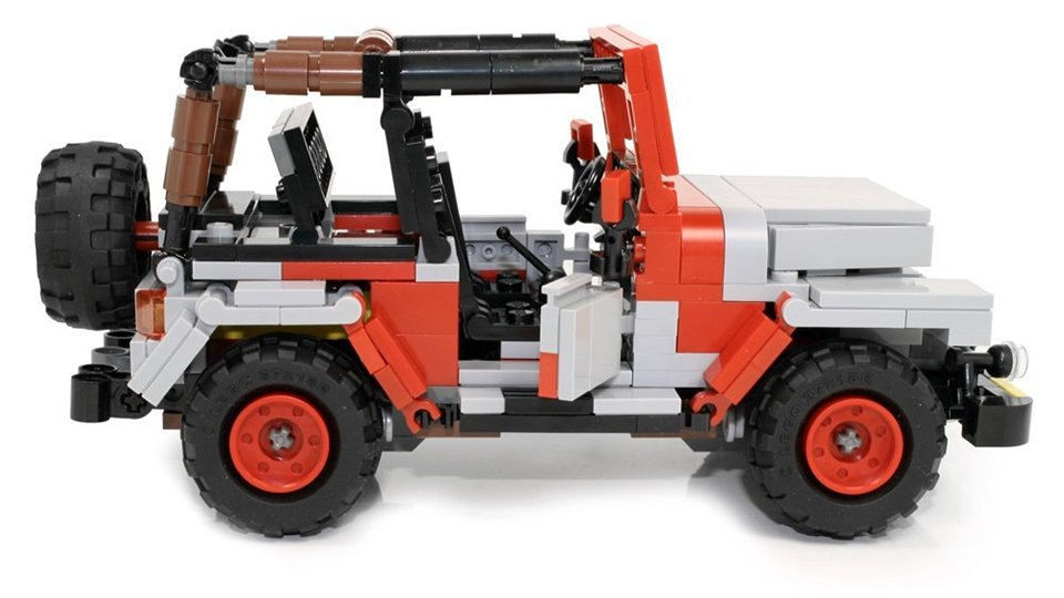 Limited Edition Custom LEGO Jurassic Park Jeep