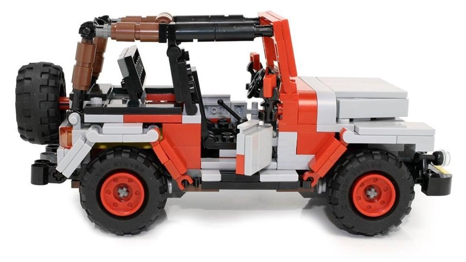 Limited Edition Custom LEGO Jurassic Park Jeep