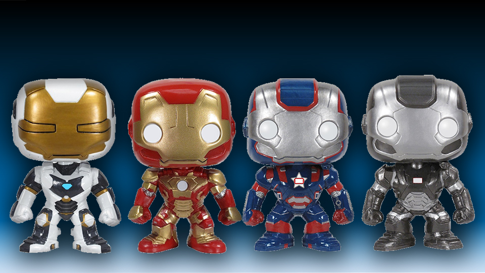 Four Iron Man 3 Bobble Heads Available Now