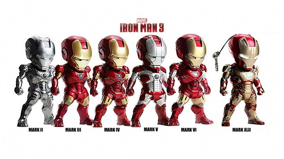Iron Man 3 Headphone Plug Figures