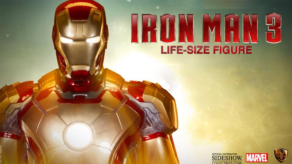 Life Size Iron Man 3 Mark 42 Statue
