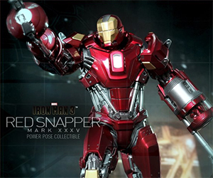 Iron Man 3: 1/6th Scale Power Pose Red Snapper
