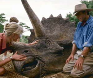 Jurassic Park's Triceratops Puppeteering: Part 1