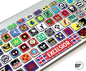 Macbook Keyboard Superhero Skin