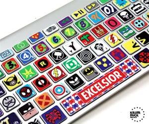 Macbook Keyboard Superhero Skin