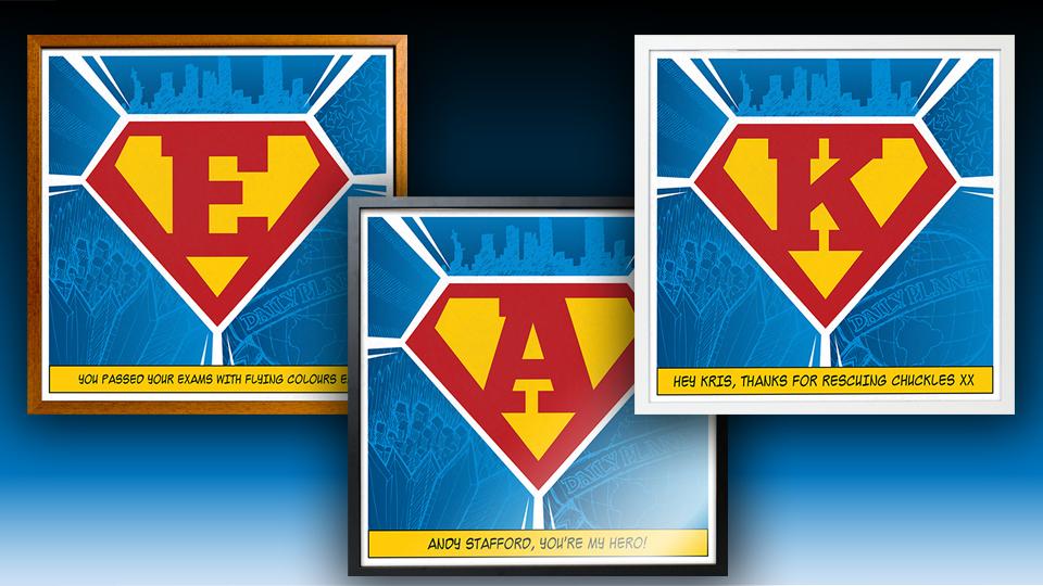 Personalized Superhero Poster