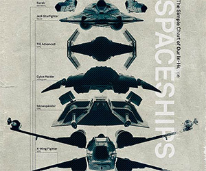 A Poster of Spaceships Found in the Artist's Cellar