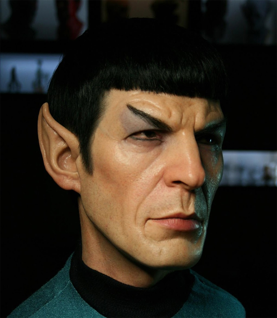 Lifelike Sculpture of Mr. Spock