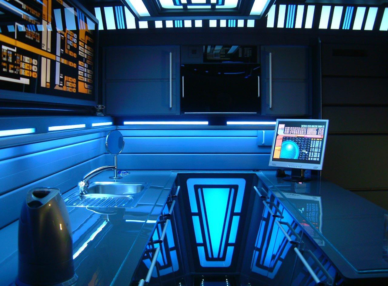 Apartment as star trek transporter control console - Star trek online console ...