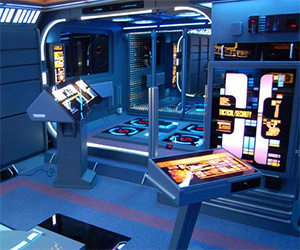 Apartment as Star Trek Transporter Control Console