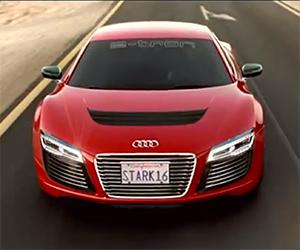Tony Stark's Commute in His Audi R8 E-Tron