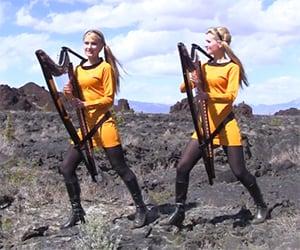 Star Trek Theme on Twin Harps