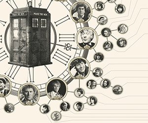 Elegant Doctor Who Companions Poster