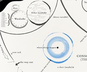 Fan Made Partial Map of TARDIS Interior
