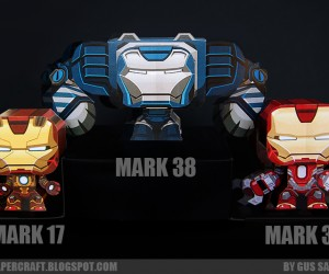 Iron Man Mark 17, Mark 38 and Mark 35