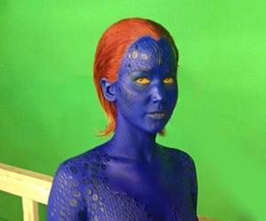 Jennifer Lawrence in Full Mystique Make-Up