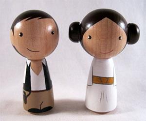 Science Fiction Kokeshi Peg Dolls
