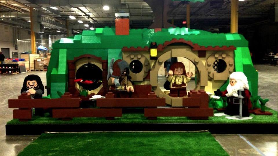 LEGO Life-Size Hobbit Bag End