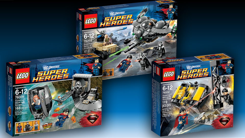 Three New LEGO Superman Sets Released