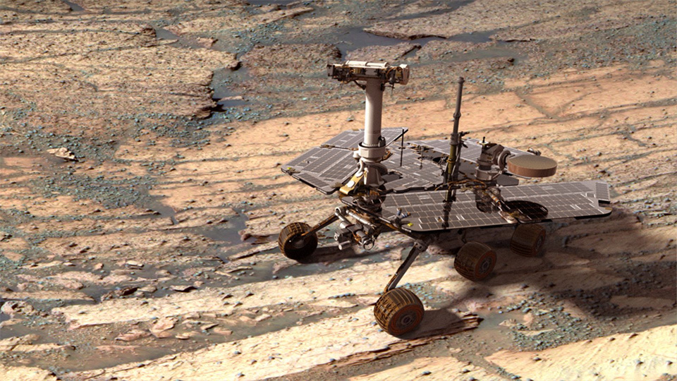 NASA's Opportunity Mars Rover Sets Distance Record