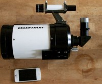 Celestron C5 with iPhone 4S