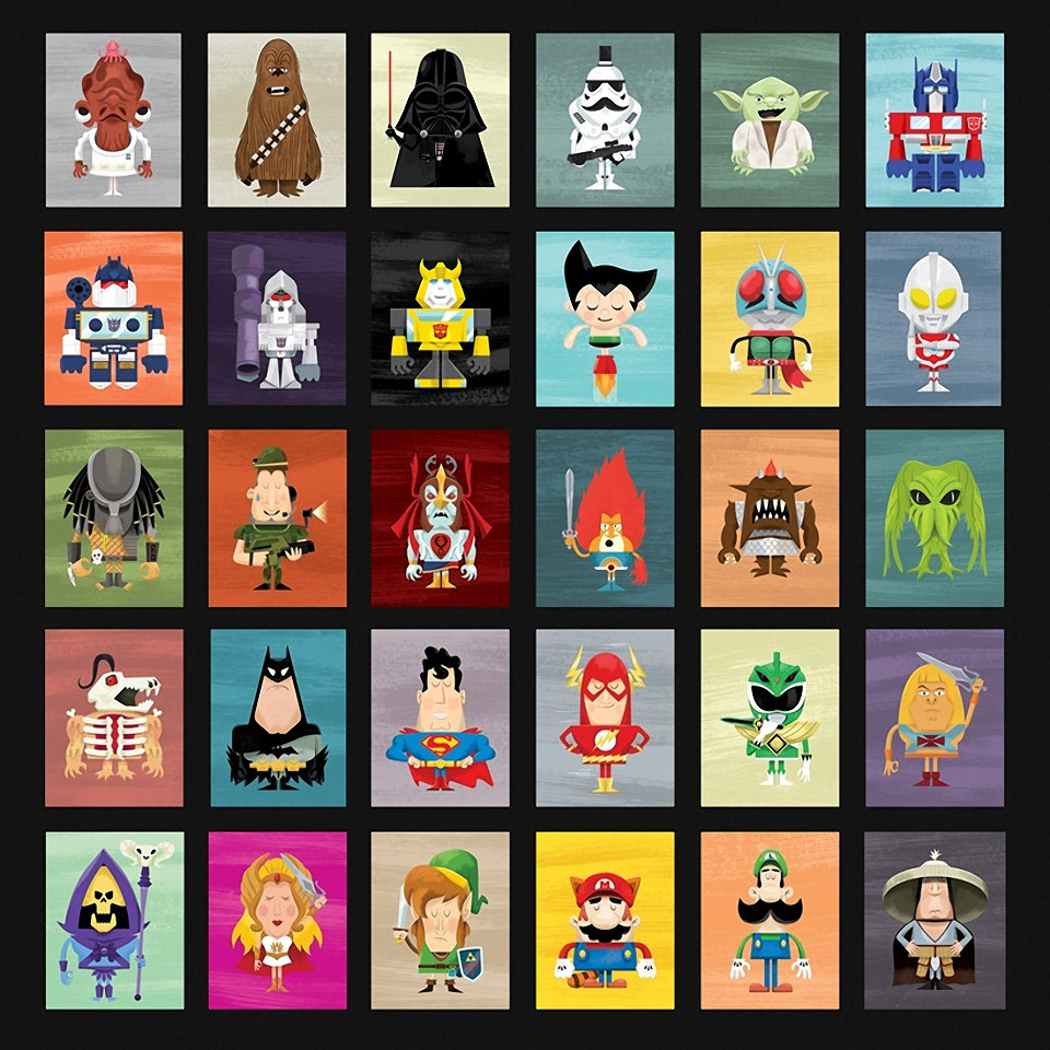Select Your Hero: Superhero and Supervillain Prints