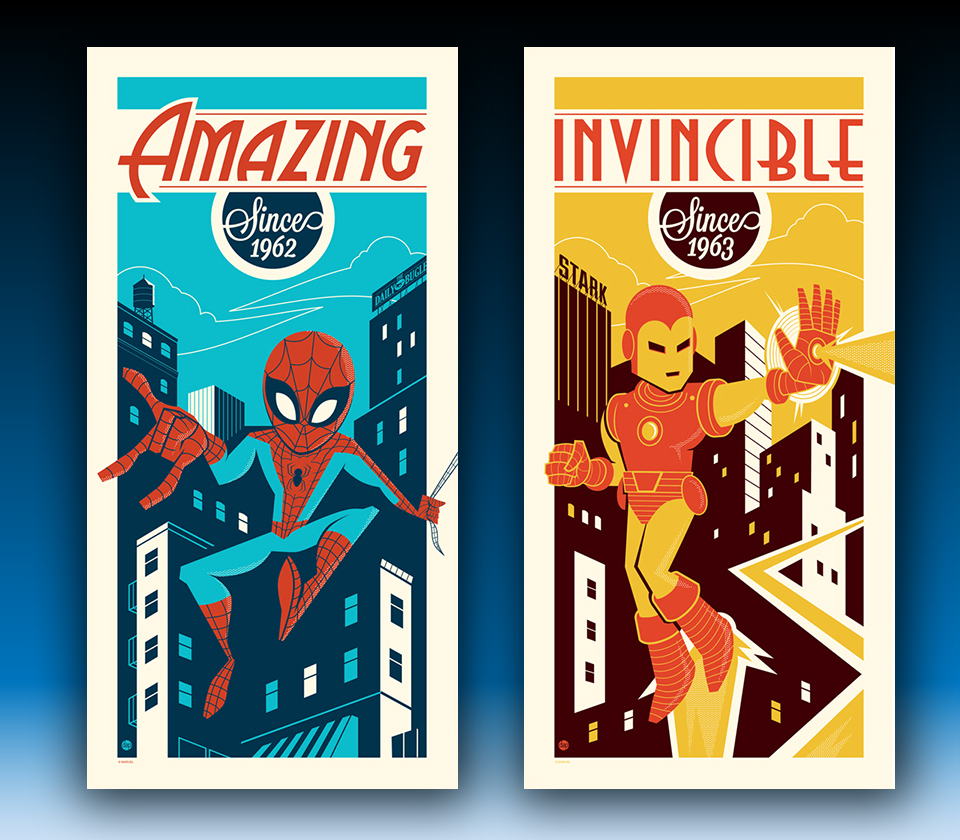 Spider-Man and Iron Man Prints Now Available