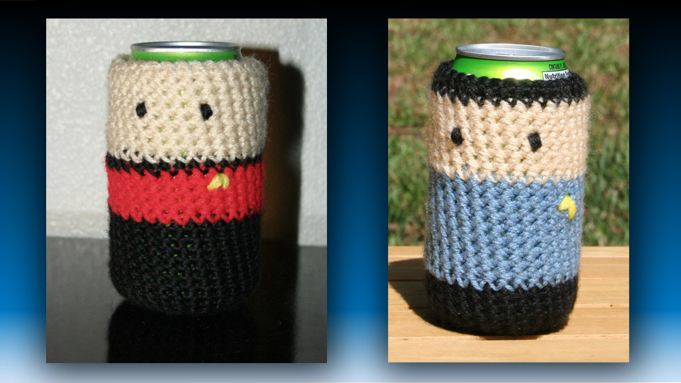 Make It Soda, Number One: Star Trek Crochet Cozies