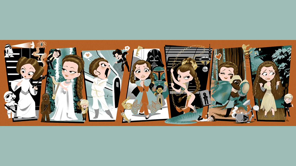 The Leia Story: A Montage Artwork of Princess Leia