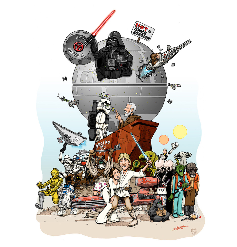 New Star Wars Spoof Poster by Jason Chalker