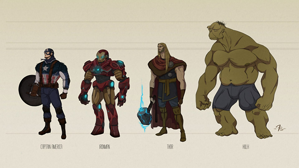 The Avengers: Character Concept Art