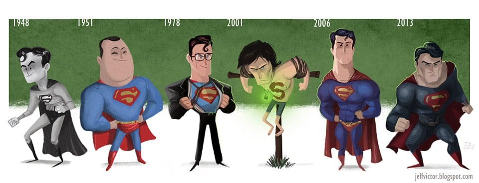 The Cartoon Evolution of Superman