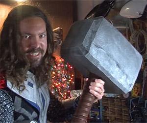 DIY Thor's Hammer: 80,000 Volt Mjolnir
