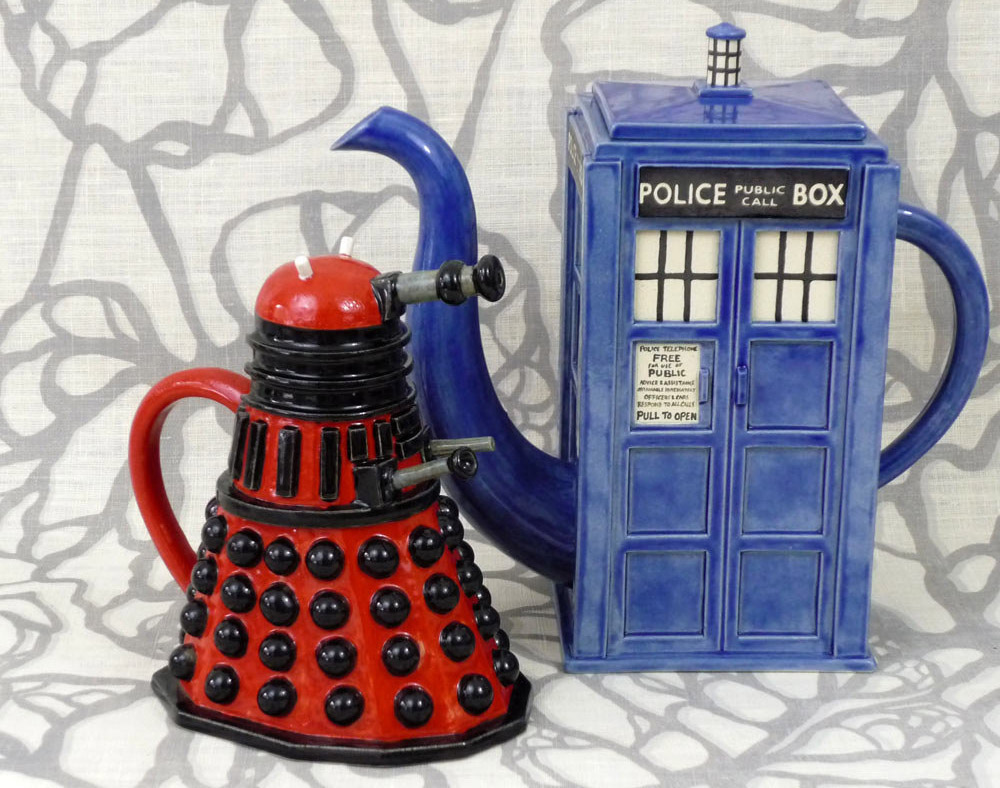 Handmade Doctor Who Ceramic Housewares