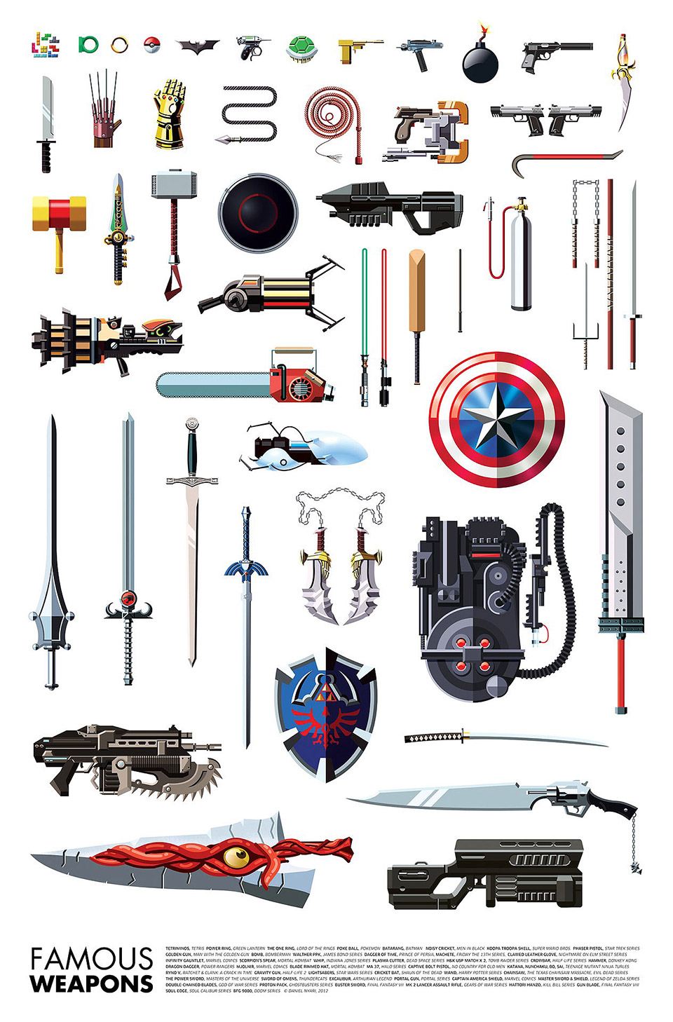 Weapons of Superheroes and Supervillains