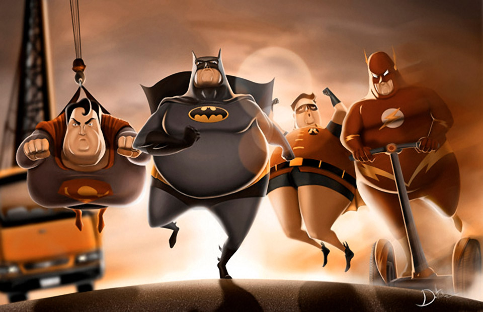 Fat Heroes: Illustrations by Carlos Dattoli