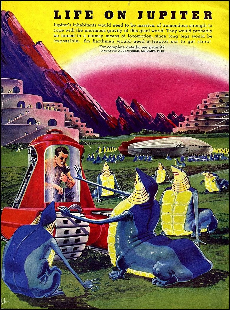 Future Space Travel and Alien Life as Seen in 1940
