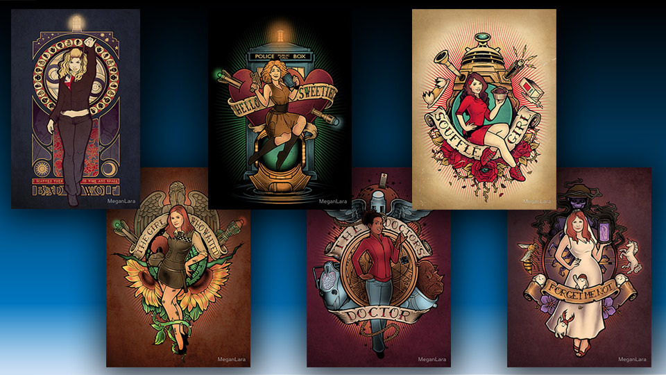 The Ladies of Doctor Who Pin-Ups
