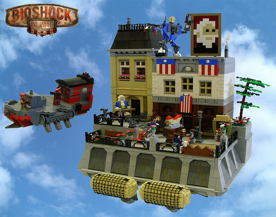 LEGO Bioshock Infinite Figures and Floating World
