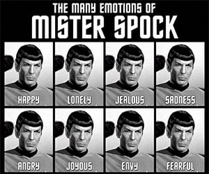 The Many Emotions of Mr. Spock