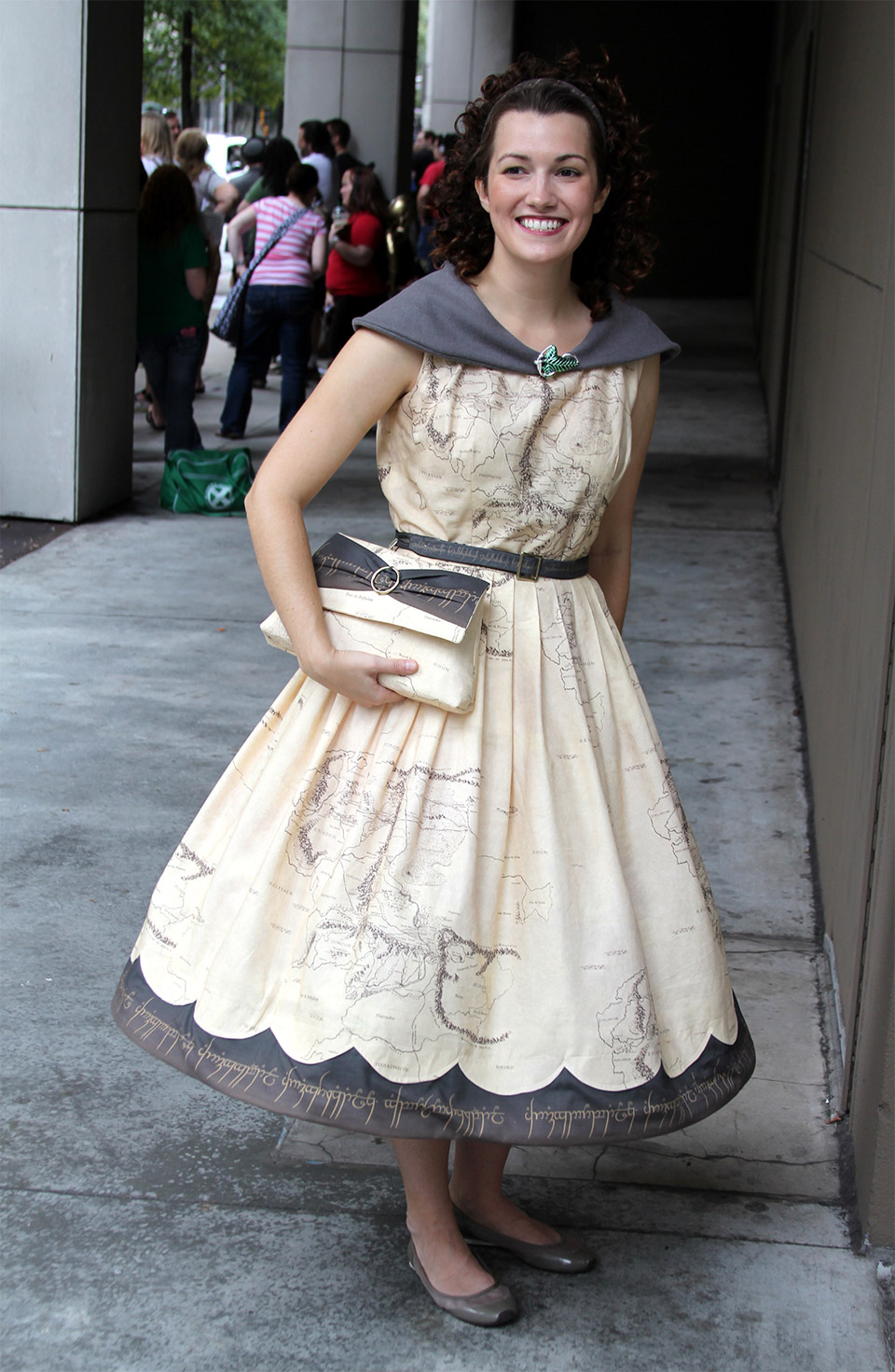The Hobbit Cosplay: Map of Middle Earth Dress